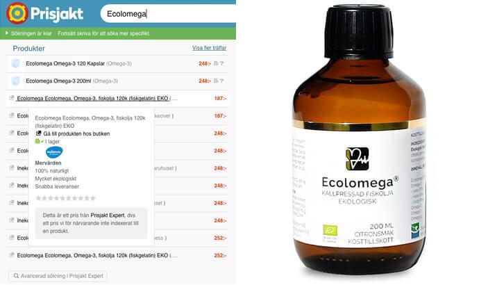 Världens första ekologiska omega 3-olja