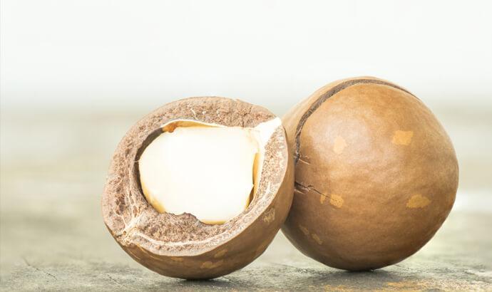 Palmitoljesyra i madacemianötter